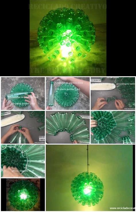 recycled plastic bottles lamp usefuldiycom