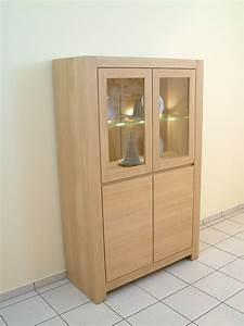 Eiche Massiv Möbel : schermbeck vitrine glasschrank modern eiche massiv hell ge lt oder lackiert 2 t rig breite ~ Frokenaadalensverden.com Haus und Dekorationen