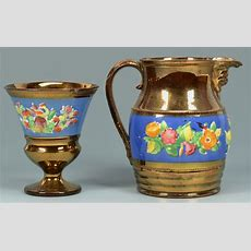 Lot 886 Group Of English Copper Lusterware