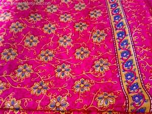 Shocking Pink Floral Sari Fabric By The Yard - Unique Saree