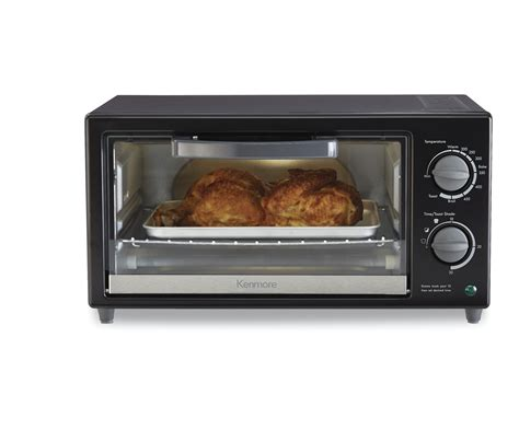 Black Toaster Oven by Kenmore Kmoppto 4 Slice Toaster Oven Black