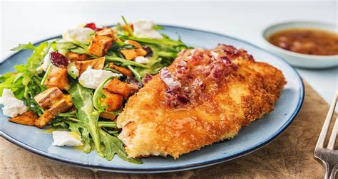 Made with melted provolone, arugula and a spicy chipotle mayonnaise. Panko-Crusted Chicken with Roasted Sweet Potatoes, Cranberries and Arugula Salad   Recipe ...