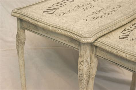 shabby chic vintage tables vintage shabby chic nest of tables 10 09 homefurniture org