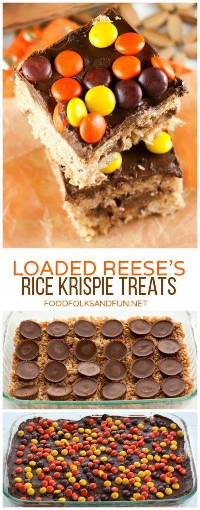 ideas  fall rice krispy treats