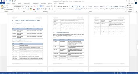 Database Table Design Template Database Design Template Ms