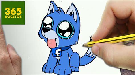 como dibujar perro facebook kawaii paso  paso dibujos kawaii faciles dessin dessin