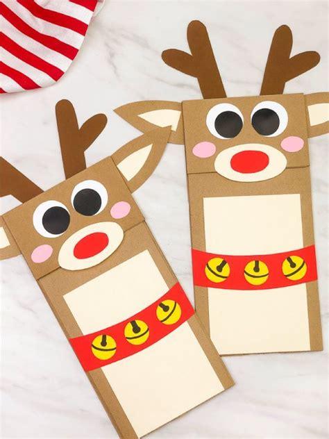 reindeer paper bag craft  kids  images paper