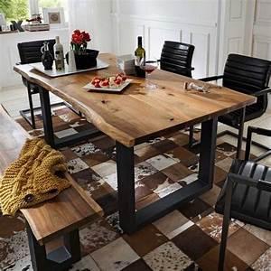 Tischgestell Holz Selber Bauen : k chentisch charles mit baumkante holztisch selber bauen tisch esszimmer und holztisch ~ Watch28wear.com Haus und Dekorationen