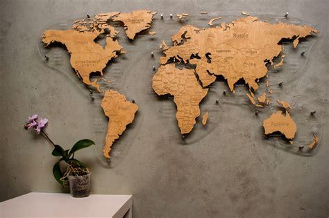 Pasaules karte - Koka gaismekļi un koka dizaina preces ...