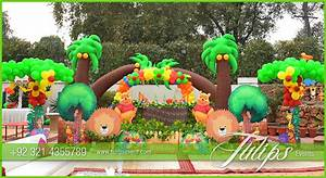 jungle zoo theme party decoration ideas in Pakistan