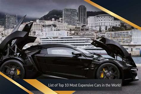 Most Expensive Cars In The World  Top Ten List