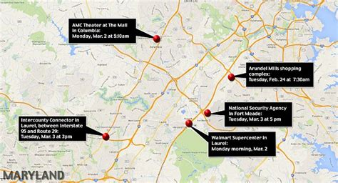 Dc Sniper Timeline And Map on