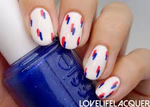 Love life lacquer essie summer th of july inspired nail art