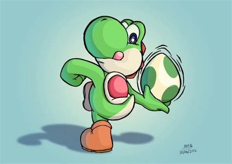 yoshi learnt  throw eggs  elmago  deviantart