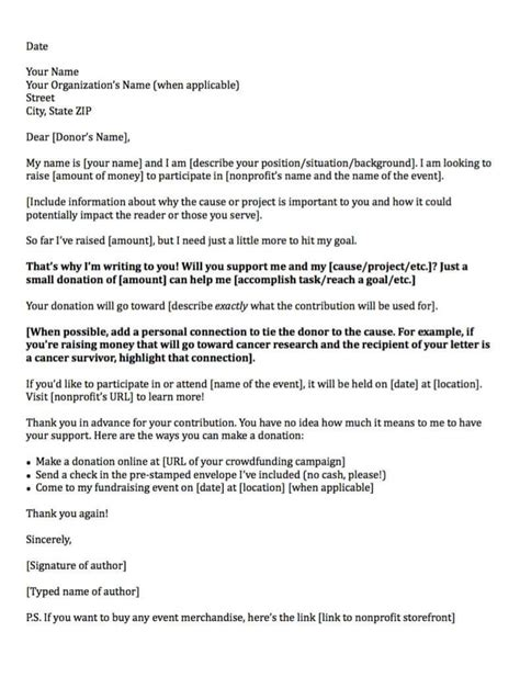 sample letter   donations funeral expenses