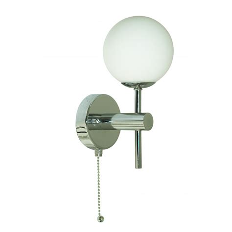 4337 1 led globe chrome wall light