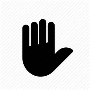 Finger, fingers, gesture, hand, high five, palm, stop icon ...