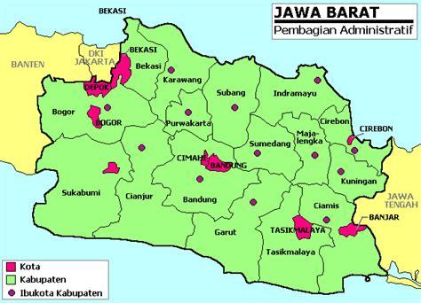 daftar kabupaten  kota  jawa barat wikipedia bahasa