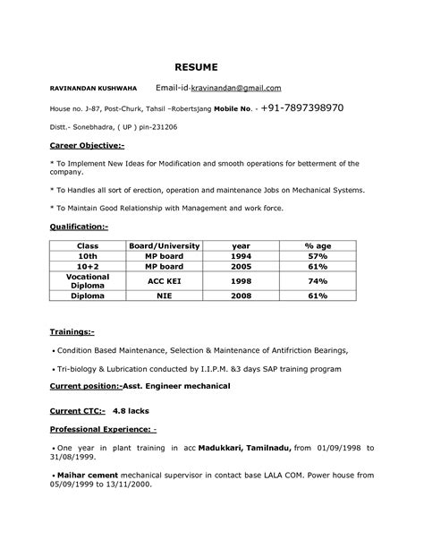 B E Resumes by Free Resume Templates B E Format Sle Data With 93 Excellent