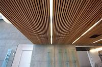 ceiling wood panels Stunning Slatted Wood Ceiling Panels Design For Contemporary Home Interior Ideas… | Commerical ...