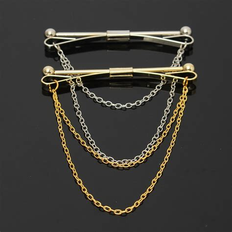 Gold Bar Accessories by Gold Clasp Bar With Chain