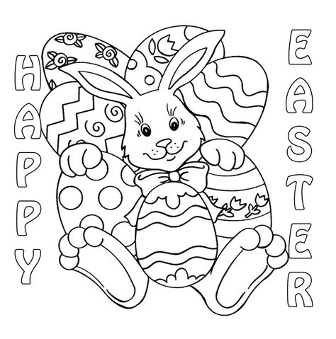 free easter coloring pages to print 20 of the best ideas for easter bunny coloring pages to