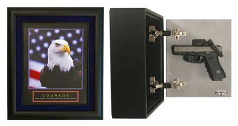 wall mounted concealed handgun cabinet display artwork