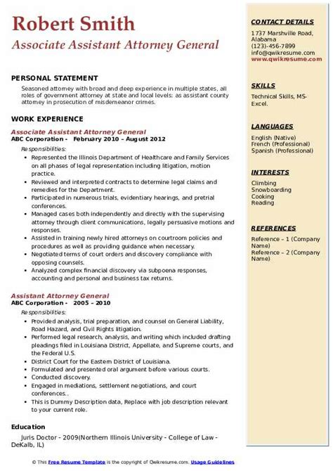 10 assistant manager resume examples complete guide. Assistant Attorney General Resume Samples | QwikResume
