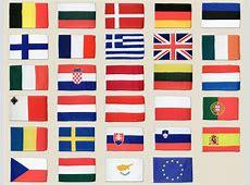 Europa Flaggen Set 30 x 45 cm