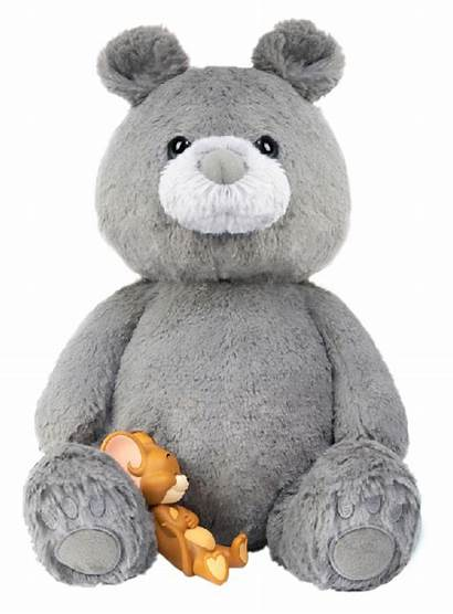 Jerry Plush Tom Bear Teddy Charcoal Gray