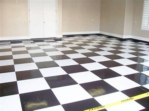 specialty floors black white checkered garage sledge