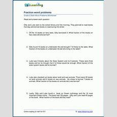 Grade 3 Fraction Word Problems Worksheets  K5 Learning