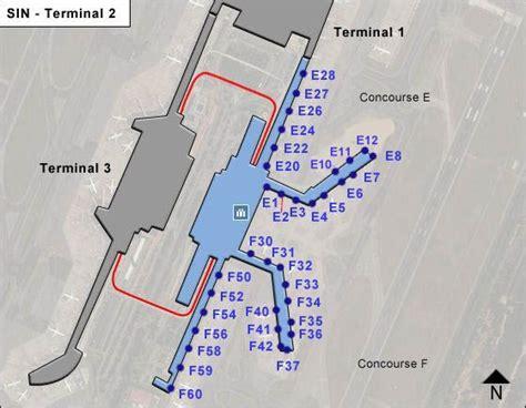 singapore changi sinairport terminal map terminal