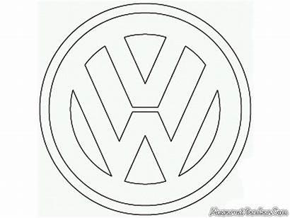 Volkswagen Coloring Vw Mobil Colouring Logos Colorear