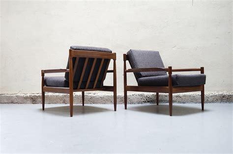 paire de fauteuil gris scandinave teck vintage design annees 50 60 70 danois canape danke