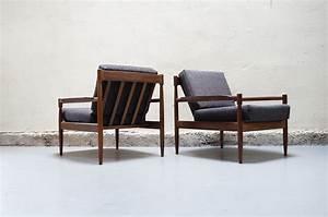 Fauteuil Vintage Scandinave : paire de fauteuil gris scandinave teck vintage design ~ Dode.kayakingforconservation.com Idées de Décoration