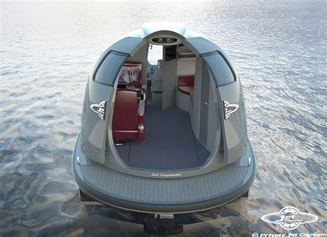 Small Boat Under 20k by Jet Capsule Water Boats Proposes Private Taxi Versions