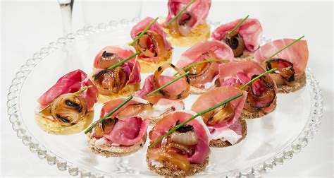 ham canapes canapé of san daniele ham quince marmalade and grilled