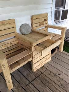 Pallet Double Chair Bench DIY