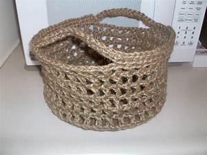 Panier En Jute : crochet ~ Teatrodelosmanantiales.com Idées de Décoration