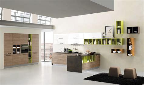 mensole cucina cucine con elementi colorati mensole vani a giorno