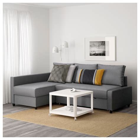 Friheten Corner Sofabed With Storage Skiftebo Dark Grey