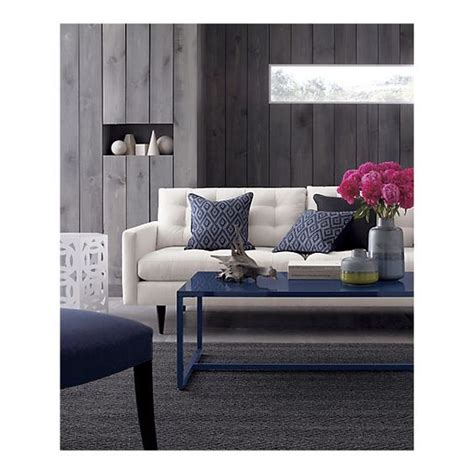 Crate And Barrel Petrie Sofa by Baden Large Coffee Table Grey Crate And Barrel And