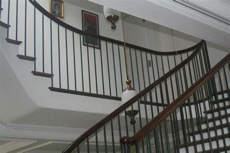 Mahogany Banister by Oak Staircase With Mahogany Handrail