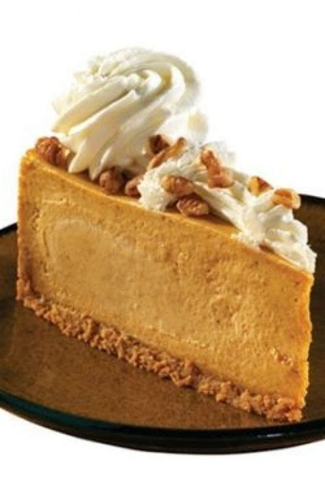 Pumpkin cheesecake when i was young we produced several ingredients for this longtime favorite on the farm. Pumpkin Cheesecake Recipe From the Cheesecake Factory (With images) | Pumpkin cheesecake recipes ...