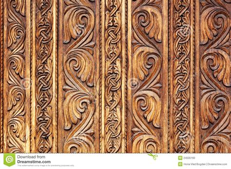 carved wooden pattern on a monastery door stock photo image 24505160