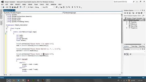 Console Application by C Basic S Console Application Simple Calculator