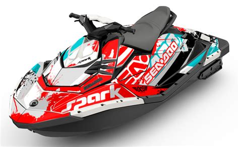 sea doo spark trixx overtime trixx sea doo spark graphics kit and wraps scs unlimited