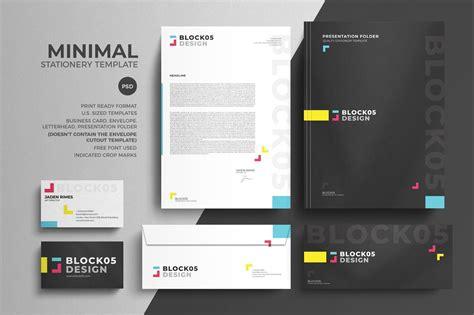 Minimal Corporate Stationery Design Template PSD