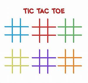 tic tac toe template 7 download free documents in pdf doc With tic tac toe menu template